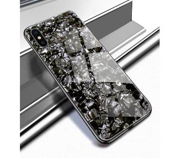 Luxury Bling Conch Shell Sparkling Tempered Glass Case For IPhone Xs Max