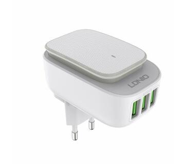 LDNIO A3305 Fast Charge of 3Port USB Nightlight charger Adapter with LED Light