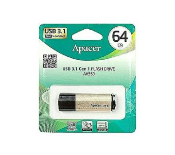 Apacer AH353 - USB 3.1 Pendrive - 64GB - Black And Gold