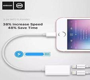 Joyroom Dual Lightning Headphone Audio Charging Adapter