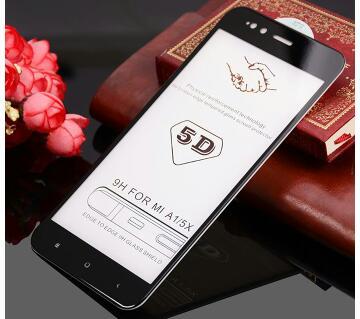 Redmi Note 4X 5D টেম্পারড গ্লাস স্ক্রিন প্রোটেক্টর -Black
