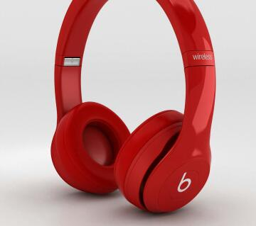 Solo2 Over the Ear Headphones Red