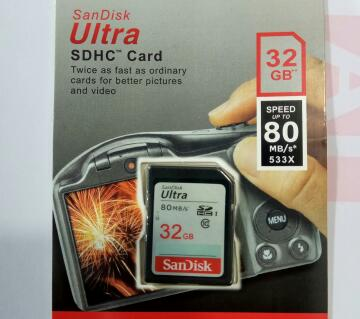 Sandisk 32GB 80mb/s SD - Memory Card