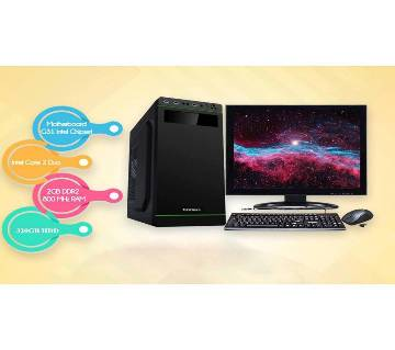 """Desktop Computer Package- Core 2 Dou+HDD 320GB+RAM 2GB+19"""" LED"""