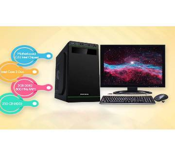 "Desktop Computer Package - Intel Core 2 Duo+250GB HDD+RAM 2GB+17""LED"