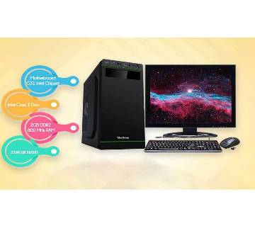 "Desktop Computer Package - Intel Core 2 Duo+320 GB HDD+RAM 2 GB with 17"" LED"