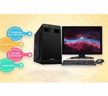"Desktop Computer Package - Intel Core 2 Duo+500GB HDD+RAM 2 GB with 17"" LED"