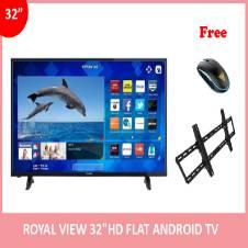 """Royal View 32"""" অ্যান্ড্রয়েড স্মার্ট FULL HD ফ্ল্যাট TV (১ টি মাউস এবং টিভি ওয়াল মাউন্ট ফ্রি)"""