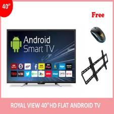 """Royal View 40"""" অ্যান্ড্রয়েড স্মার্ট FULL HD ফ্ল্যাট TV (১ টি মাউস এবং টিভি ওয়াল মাউন্ট ফ্রি)"""
