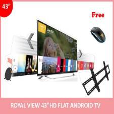 """Royal View 43"""" অ্যান্ড্রয়েড স্মার্ট FULL HD ফ্ল্যাট TV (১ টি মাউস এবং টিভি ওয়াল মাউন্ট ফ্রি)"""