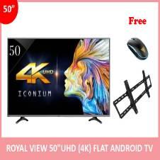 """Royal View 50"""" অ্যান্ড্রয়েড স্মার্ট FULL HD ফ্ল্যাট TV (১ টি মাউস এবং টিভি ওয়াল মাউন্ট ফ্রি)"""