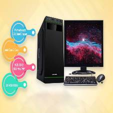 """ডেস্কটপ কম্পিউটার প্যাকেজ- Core 2 Dou_HDD 320GB_RAM 2GB DDR2+17"""" LED"""