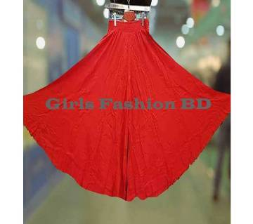 China Soft Linen Skirt Palazzo (Red)