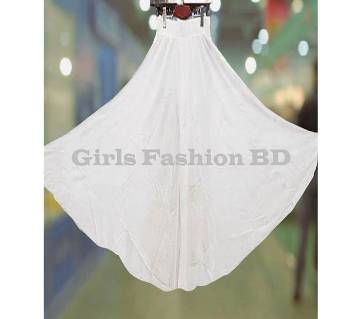 China Soft Linen Skirt Palazzo (White)