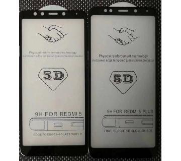 5D Glass For Redmi 5 plus