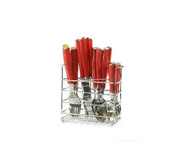 Good Living Spoon Set - Red