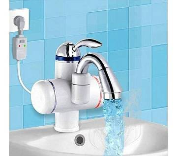 Instant Water Heater Tap - Silver and White