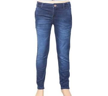 KUHEL Stretch Navy Blue Jeans Pant for kids