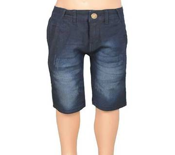 KUHEL Stretch Black Half Jeans for Boys