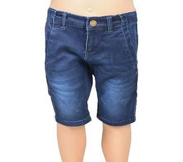 KUHEL Stretch Nave Blue Half  Jeans for Boys