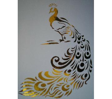 peacock design 3d wall sticker