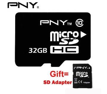 PNY 32GB Micro SD class-10 মেমোরি কার্ড