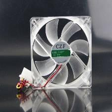 কেসিং কুলিং ফ্যান CZF 12V 4PIN LED লাইট