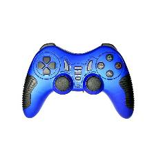 Beacon USB Wired Dual Vibration Gamepad - Blue and Black