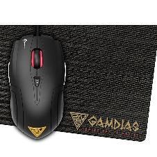 Gamdias Wired Optical Gaming Mouse 3200 DPI - Black