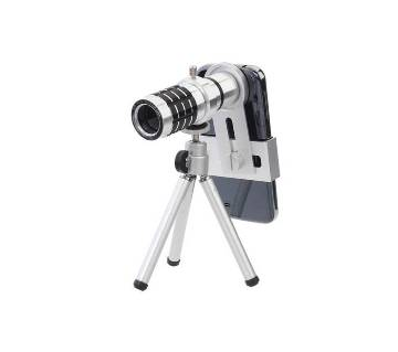 Mobile Camera Lens 12x Zoom With Adjustable Tripod