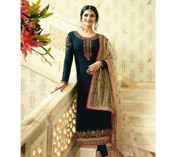 Indian Unstitched Georgette Embroidery Three Piece