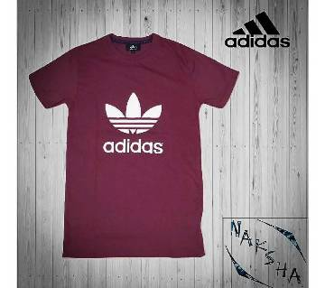 Adidas হাফ স্লিভ কটন টি-শার্ট (কপি)