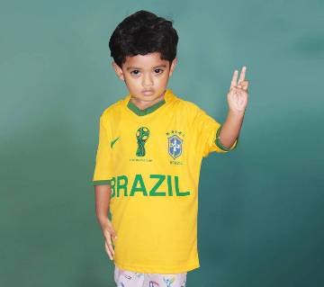 World Cup Brazil Home Jersey For kids 2018 - Half Sleeve (Copy)