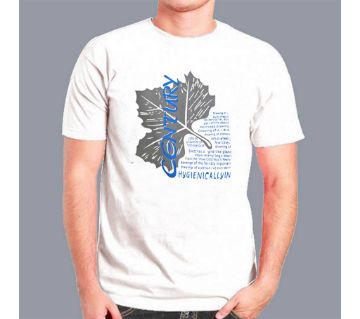 Century Half Sleeve Slim Fit Cotton T shirt For Men