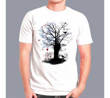 Mans Half Sleeve Cotton T-shirt