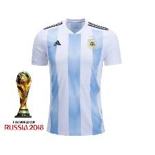 Argentina Home Half Sleeve Jersey 2018 (Copy)