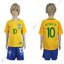 Brazil Half Sleeve Home Jersey For Kids World Cup 2018 (Copy)