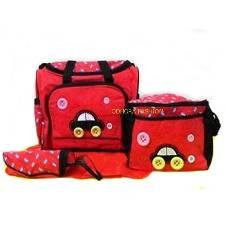Multi function Baby Diaper Bag-Red