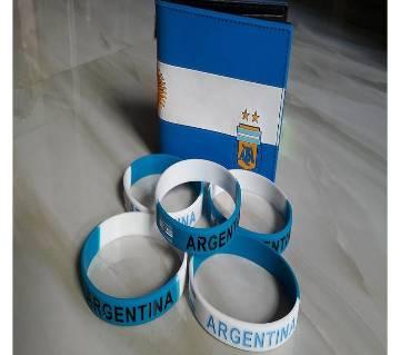 Argentina ওয়ালেট And PVC রিষ্ট ব্যান্ড কম্বো