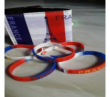 Francs ওয়ালেট And PVC রিষ্ট ব্যান্ড কম্বো