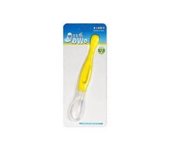 Silicone Baby Spoon - White & Yellow