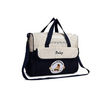 Navy blue polyester diaper bag for baby
