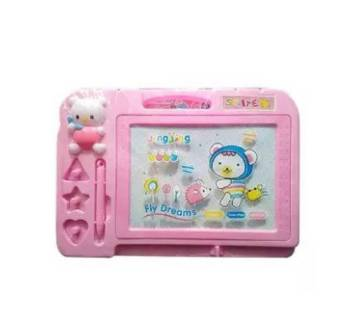 Plastic Writing Board - Pink and White