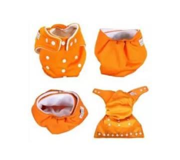 Orange Cotton Cloth Diaper for Baby