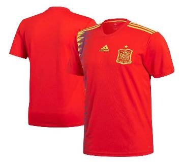 Spain home Jersey Half Slave World Cup 2018 - Copy