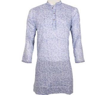 Printed Semi Long Cotton Punjabi