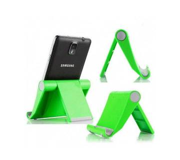 Tablet and Phone Holder (Black / Green)