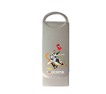 TEUTONS Metallic Knight 64GB Pendrive - Silver