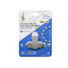 TEUTONS OTG USB ফ্লাশ ড্রাইভ 64 GB