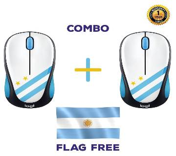 Buy 2 Logitech M238 - Argentina Wireless Mouse Get Free 5 Fit / 3 Fit Flag